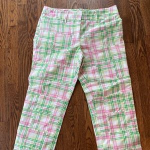Lilly Pulitzer Madras Patchwork Ankle Pants
